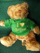 "Keel toys teddy bear ""i love Belfast "" jumper 11"" approx preloved"