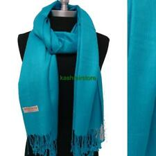 NEW Women Soft Solid Turquoise PASHMINA/Cashmere Classic SHAWL Scarf Stole WRAP