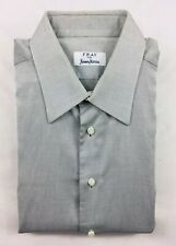 Fray Neiman Marcus Gray Textured Long Sleeves French Cuff Dress Shirt Size 16