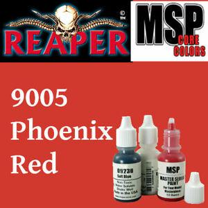 PHOENIX RED 9005 - MSP 15ml 1/2oz paint pot peinture figurine REAPER MINIATURE