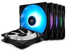 DEEPCOOL RF120M 5IN1, 5x120mm RGB PWM Fans with 2 Fan Hubs, Compatible with ASUS