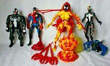 Toybiz lot Marvel action figures Spiderman, Venom, She-Venom, Scream