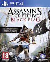 ASSASSIN'S CREED BLACK FLAG PER PS4 NUOVO ITALIANO DA NEGOZIO SPEDIZIONE GLS!!!