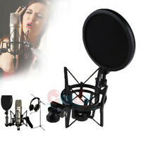 Condenser Microphone Mic Shock Mount Holder Clip Stand For Studio Recording Cond