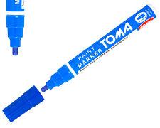 Azul permanente de aceite basado en Pintura Pluma Auto Moto Neumáticos Marcador De Metal Impermeable