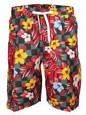 Soul Star New Mens Casual Floral Flower Summer Beach Swim Water Long Surf Shorts