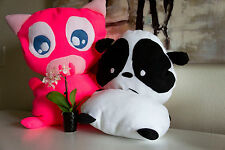 Plush Pink Pig Stuffed Animal Toy pillow Farm Plushy Lovey Plushie Toy