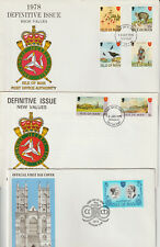 ISLE OF MAN - 3 DIFF. FIRST DAY COVERS 1973/78