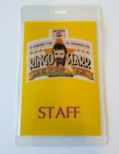 Ringo Starr Backstage Concert Pass 1989 Original Rock Pop Music The Beatles