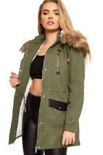 Manteaux et vestes parkas verts coton pour femme