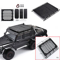 Metal Luggage Rack Antiskid Plate Spotlight Kit for TRX6 6X6 G63 Benz RC Car BUS