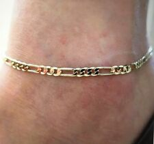 Womens Gold Figaro Chain Naked Lady Ankle Bracelet Anklet