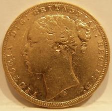 Australia 1873 S Gold Sovereign St George Sydney Mint XF - AU