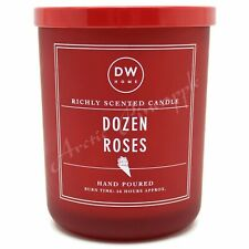 DW Home Large 15.3 oz 56 Hour Large Valentines Double Wick Candle - Dozen Roses