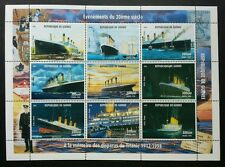 Guinea Titanic 1998 Movie Sinking Ship Vehicle Transport (sheetlet) MNH