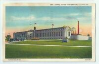 United States Penitentiary Atlanta Ga Vintage Postcard Georgia Linen
