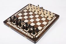 Brand New♞ Hand Crafted Wooden♚ Chess And Draughts Set ♚Great Board♖36cmx36cm♞