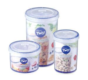 Lock & Lock Round Twist Lid Food Storage Container Box Jar ~ 10 Sizes