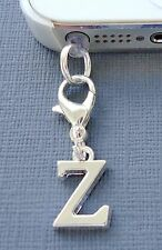 Alphabet Letter Z cell phone Charm Anti Dust proof Plug ear cap cover jack C43