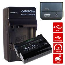 batteria e caricabatteriaper nikon d600 d610 nikon 1 V1 d750 enel15 2000mah