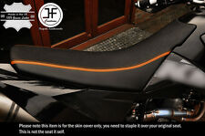 DESIGN 2 ORANGE STRIPE CUSTOM FITS KTM LC4 640 98-07 DUAL VINYL SEAT COVER