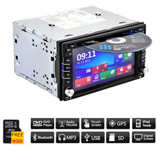 "6.2"" GPS Navigation Double Din Car Stereo DVD Radio Player Blueteeth FM + 8G Map"