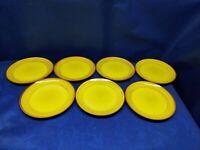 "Vintage Colortone Stoneware ""Oro"" Set/7 Dessert/Salad Plates Japan Retired"