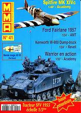 MMA, NUMERO 41 DE 1996. SPITFIRE MK XIVc, FORD FAIRLANE 1957
