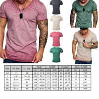 JAP Summer Men Slim Fit O-Neck Short Sleeve Muscle Tee Shirts Casual Shirt Tops