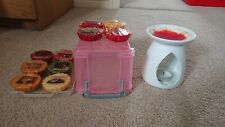 Yankee Candle White Melt Warmer Tea Light Ceramic Jar & 10 wax melts