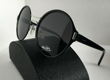 Prada AUTHENTIC Sunglasses ✦ PR 57TS 405041 ✦ Black & Silver/Dark Grey