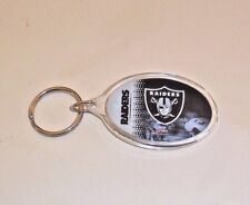 NFL OAKLAND RAIDERS ACRYLIC OVAL KEY CHAIN FREE SHIPPING GREAT GIFT