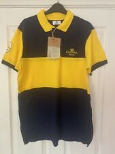 More details for corona extra mens large polo shirt - yellow & blue *new with tags*