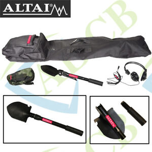 Altai Treasure Seeker Accessory Kit Carry Bag, Folding Pick/Shovel & Headphones