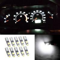 10X White T5 LED Bulbs for Dashboard Dash Gauge Side Instrument Panel Lights