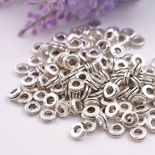 100Pcs Tibetan Silver/Gold/Bronze Rings Spacer Beads Jewelry Findings 6MM CA3039