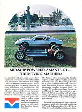 1970 Amante GT based on VW - Vintage Advertisement Car Print Ad J386