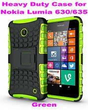 Green Heavy Duty Strong Tradesman TPU Case Cover Stand For Nokia Lumia 630/635