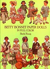 Betty Bonnet Pre WW I Paper Dolls  by Sheila Young - Full Color -1982 NM-MT