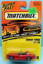 351 MATCHBOX / CARTE LONGUE US / SUPERFAST / 10 DODGE VIPER RT 10 1/64