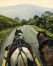 Gypsy Caravan fine art print. Romany Vanner print.