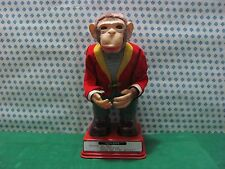 Antique Tinplate Toy TN-Monkey HY-Que-T.N. Ichiko Masudaya Japan 1950