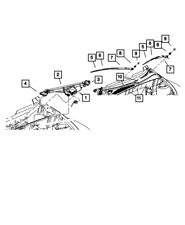 Genuine MOPAR Wiper Arm Nut Cap 4389440