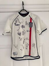 2001-03 England Home Shirt - Small Boys - Signed By Members Of The Squad