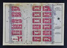 1934 New York City Map Manhattan Morningside Park Columbia University 116-122nd