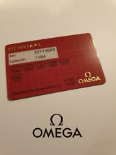 Omega Speedmaster Automatic 3211.30.00 Pictograms Card *Genuine & Mint*