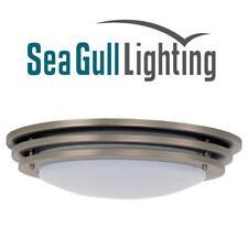 SEA GULL NEXUS FLUORESCENT 4 LIGHT CEILING FLUSH MOUNT BRUSHED NICKEL 20 INCH
