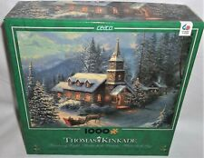 Ceaco Thomas Kinkade 1000 Jigsaw Puzzle Christmas Sleigh Ride Complete 3328-26