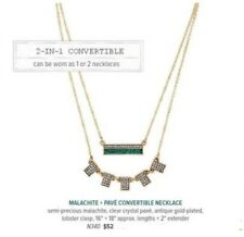 Chloe and Isabel Malachite + Pavé Convertible Necklace N340 - NEW - RETIRED