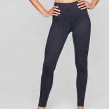 Athleta Size Small High Rise Navy Blue Ripple Chaturanga Tight Leggings Workout